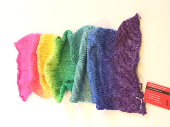 Double Knit Sock Pattern : Double-Double Knit Sock Blank Summer Rainbow Yarn