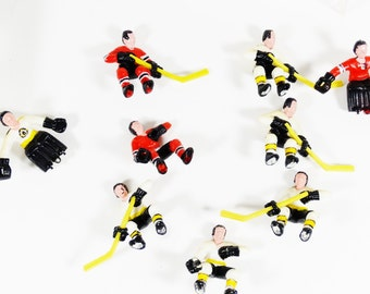 Vintage Hockey Player and Goal Figurines - Table Hockey Action Figures