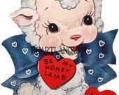 LARGE Vintage Valentine Card Download Art Graphic Image printable valentine