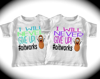 I will never give up! #oitworks Allergy shirt Food allergies FOOD ALLERGY SHIRT oral immunotherapy