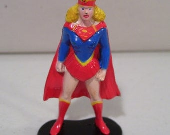 Vintage Ertl DC Comics Supergirl Die-cast Mini Figure 1990