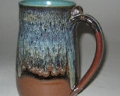 Pottery Beer Stein in Rainforest Green, 30 oz, Freezer-safe, Lead Free, Microwave and Dishwasher Safe