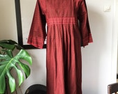 Vintage Marimekko Dress 1960-70 / Folklore Finland / Size 40 but in a wide model