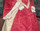 Tudor gown Custom made Medieval gown with matching headress and hooped petticote Anne Bolyne Tudor queen fairy princess stage party banquet