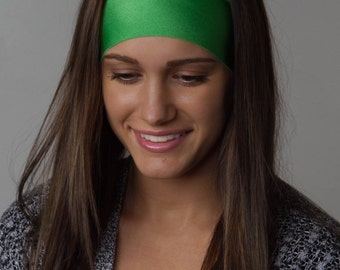 The BEST Yoga Headband ever / Stretchy Yoga Running headband / Purple headband by Manda Bees - No Slip  Headband - Wide Headband - LIME