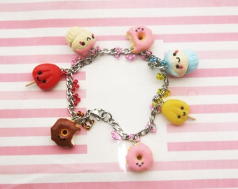 Kawaii candy charm bracelet - kawaii charm - miniature food jewelry