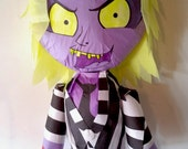 Puppet Pinata Inspired by Beetle Juice | Movable Limbs | Interactive Pinata | Rag Doll Pinata | Beetle Juice Deco | Photo Prop | Party Game