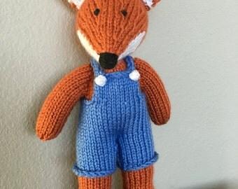 Fox - Stuffed Animal - Knitted Fox - Soft Toy - Handmade Toy - Stuffed Toy
