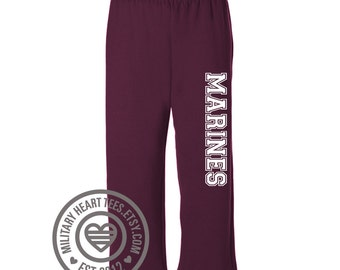 Custom marines sweatpants with pockets, marine gift, marine wife mom sister girlfriend daughter sweatpants, marine workout pants