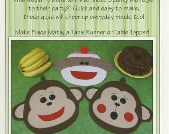 Spunky Monkeys Place Mat, Table Runner or Table Topper Pattern by Susie C. Shore Designs (ST1313)