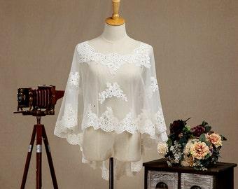 Lace Wedding Jacket, Lace Bridal Jacket, Lace Wedding Cover, Lace Wedding Shawl, Lace Bridal Shawl, Lace Bridal Cover, Lace Bridal Shrug