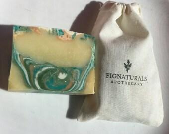 Dahlia & Lychee Handmade Natural Soap