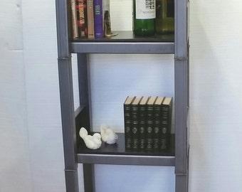 Metal Bookshelf Industrial Reclaimed Storage Rack Urban Etagere Display Wine Rack Wood Shelving