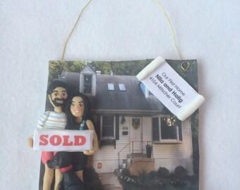 DEPOSIT ONLY!!   Custom Polymer Clay Christmas Ornament, First Home Ornament, Custom Family Ornament