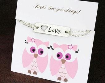 Best friend jewelry, best friend bracelet, bff, bestie, bestie sentiment, friend poem, friend sentiment, bestie gift, bff bracelt, bff jewel