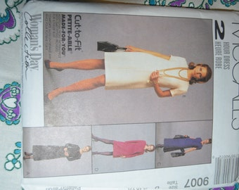 McCalls 9007 Misses Dress in two lengths Sewing Pattern - UNCUT - Sizes 8 10 12