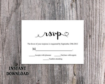 rsvp cards for weddings templates - wedding templates etsy