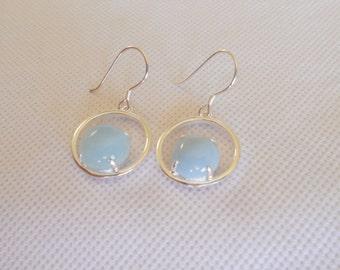 Aquamarine Earrings, Blue Gemstone Earrings, Sterling Silver Earrings, Aquamarine Dangle Earrings, Drop Earrings, Aquamarine Jewelry