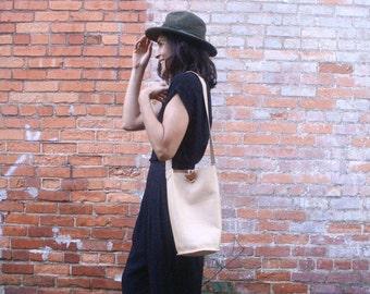 Bota Long Bucket Bag in LEATHER
