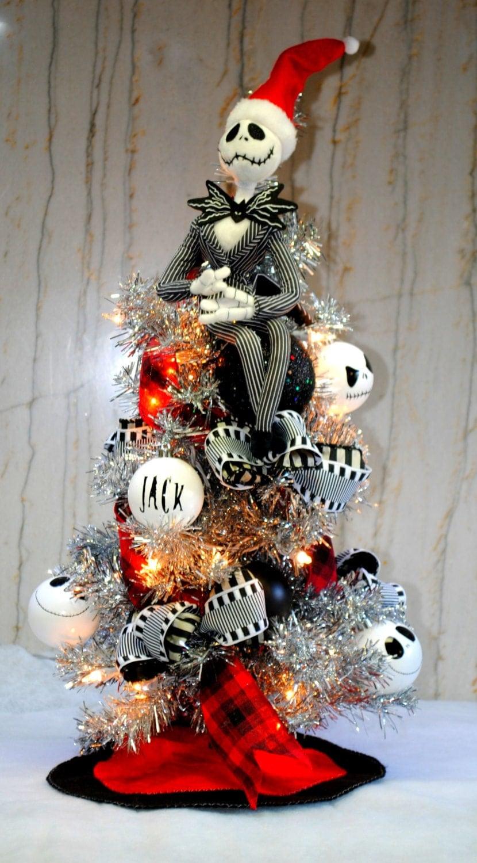 Jack skellington nightmare before christmas tree lighted with - Jack skellington christmas decorations ...