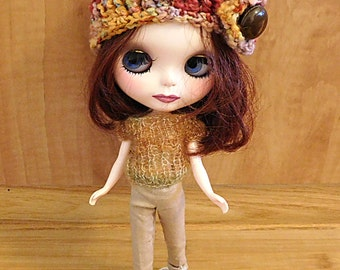 Knit Fall Top for Blythe Doll