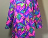 Vintage 1960's mod era super bright space age La Sport jacket L XL