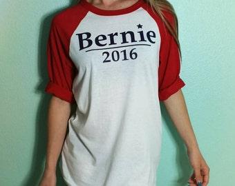 Bernie Sanders 2016 Raglan baseball Tee