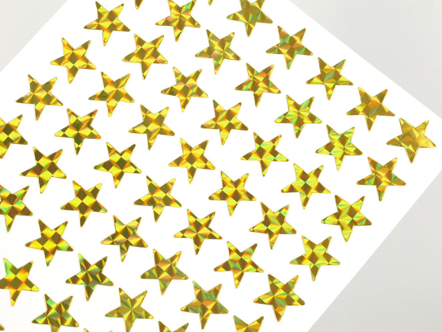 Mini gold star stickers mm yellow hologram sticky tags