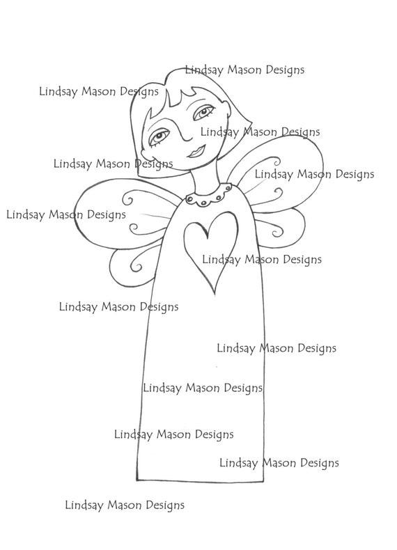"Downloadable Digital image - ""Heart Angel"""