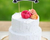 Wedding Cake Topper, Personalized Mr and Mrs Topper, Chalkboard Topper, Birthday Baby Shower Cake Topper