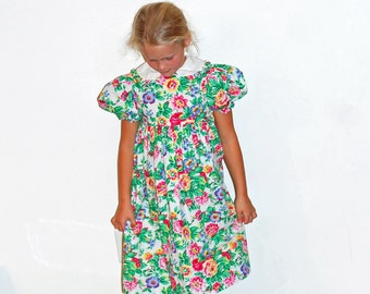 Vintage Girls Floral Dress Cary of San Francisco Size 6