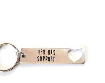 heart cutout custom text keychain