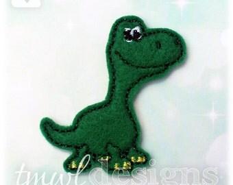 "Nice Dinosaur Feltie Digital Design File - 1.75"""