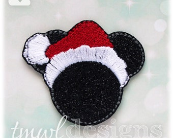 "Mr Christmas Mouse Feltie Digital Design File - 1.75"""