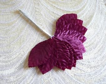 velvet millinery flowers lavender ivory for hats by apinkswan