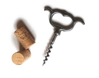 Antique Corkscrew Wine Bottle Opener Four Finger Pull Corkscrew 1930s