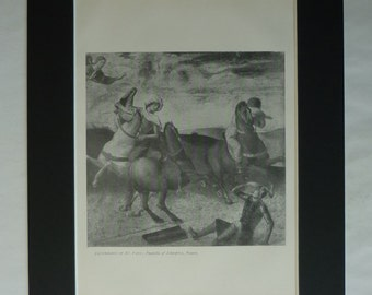 1890s Antique Giovanni Bellini Print of the Conversion of St Paul, Available Framed, Catholic Art, Altarpiece Decor, Old Christian Gift