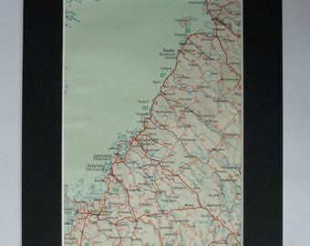 1930s Antique Raahe Map, Available Framed, Finland Art, Finnish Gift, Jakobstad Picture, Old Nykarleby Decor, Kokkola Wall Art, Gamlakarleby