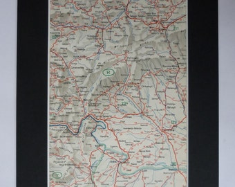 1930s Antique Map of Drobeta-Turnu Severin, Romania Decor, Available Framed, European Art, Sibiu Gift for Romanian Wall Art, Craiova Picture