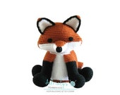 Crochet Fox- Stuffed Fox- Fox Plush- Red Fox- Woodland Animals- Forest Animals- Handmade Fox- Woodland Nursery- Amigurumi- Made to Order