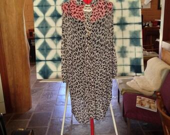 Evil Twin size M snow leopard dress