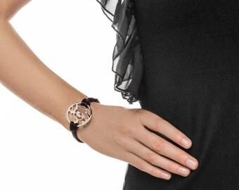 Bracelet: Black Cord (Steel)
