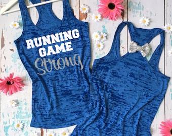 Running Game Strong Tank Top. Marathon Tank. Marathon Shirt. Half Marathon Tank. Half Marathon Shirt. Runner's Shirt. Long Distance Runner