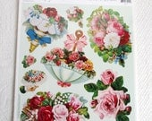 Victorian Rose Images Die Cut Stickers