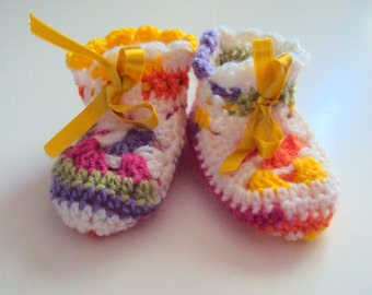 Baby  Bootie Slippers Crochet Slippers  Booties Indoor Slippers House Shoes  Slipper Socks Baby Shower Gift Ideas 0-12 months