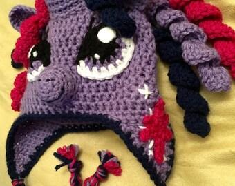 "Handmade Crochet ""My Little Pony"" Inspired Earflap Hat"