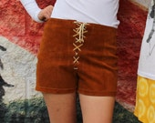 Suede Native Tie Up Shorts