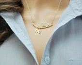 Personalized gift for new mom | Mom jewelry, Necklaces for new mothers, New mom necklace, Gold bird jewelry, Bird necklace, Baby shower gift