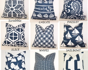 Navy Blue Outdoor Pillow   Patio PILLOW   Outdoor   Various Sizes   Deck  Pillow