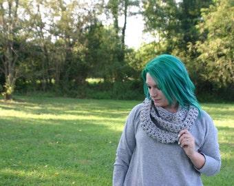 crochet infinity scarf - loop infinity scarf - vegan infinity scarf - winter wedding - THE ALEU